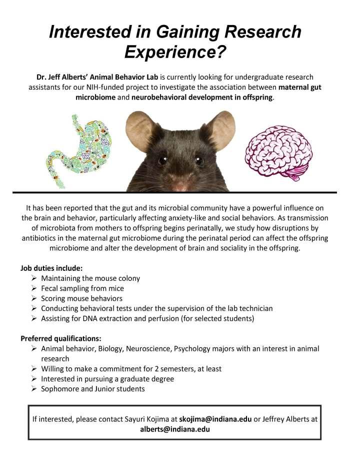 Animal Behavior Lab Flyer