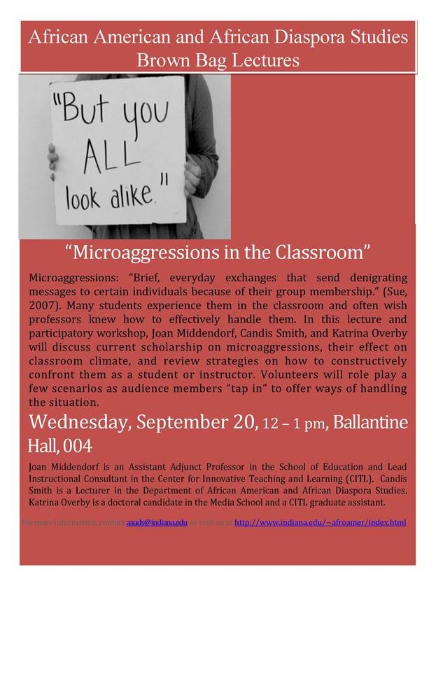 09-20-17 Microaggressions in the Classroom workshop