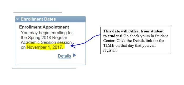 Enrollment date snip