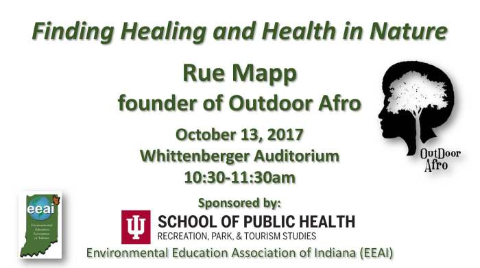 October 13 talk - Finding Healing and Health in Nature