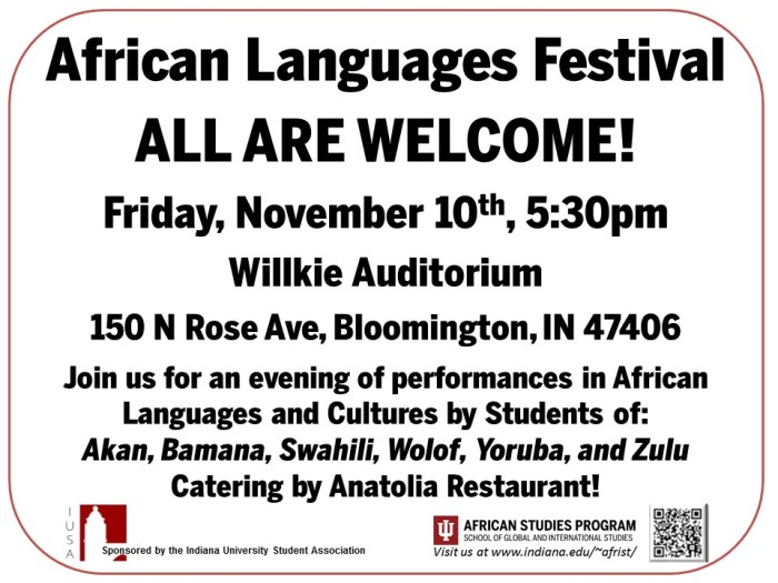 African Languages Festival Fall 2017