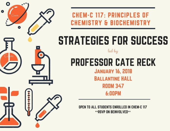 CHEM-C 117 strategies for success 01-16-18