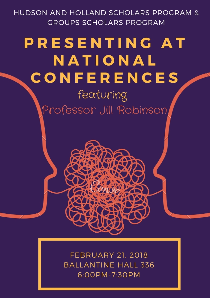Presenting at National Conferences Flyer_spring 2018