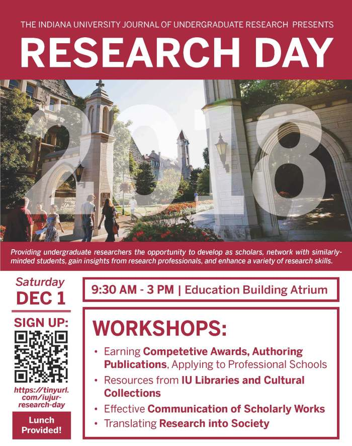 IUJUR Research Day 2018 Flyer