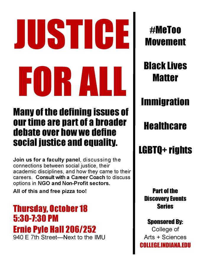 Justice for All Flyer