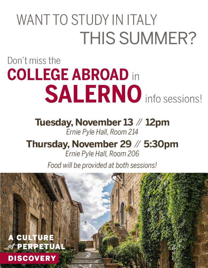 Salerno summer info session flyer