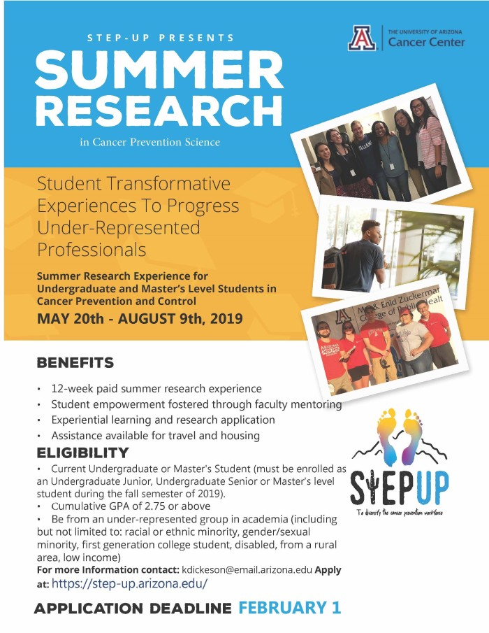 STEP-UP summer research experience (for Summer 2019)